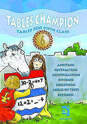 Picture of Tables Champion 6 Tables for Sixth Class Educate