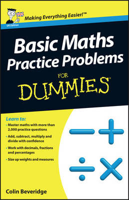 Picture of Basic Maths Practice Problems For Dummies